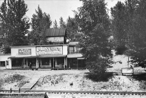 Jordan's Store Mens Wear, Nagstaff's Hardware Store, and Lodge's Ice Cream Parlour