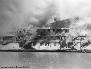 Burning of S.S. Minto - 1967 at Galena Bay