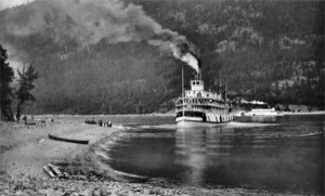 The SS Columbia, the CPR tug for the lower Arrow Lake, performed winter service from 1920 to 1947.