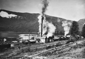 The Big Bend mill in full production in the late 1940's.