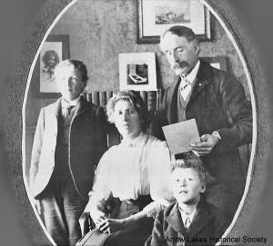 Herbert Herridge, Charlotte Herridge, Willie Herridge, younger son Archie