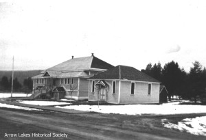New school, built 1912 (now the Nakusp library and museum, 2013)