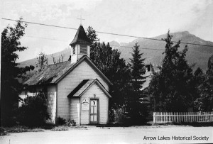 The first school (1893) became the Anglican Church before it was torn down (where Overwaitea is today, 2013)
